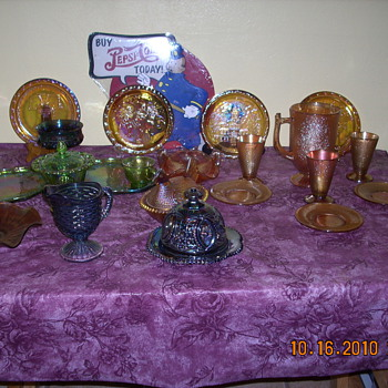 My carnival glass collection (or some of it).