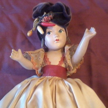 Carmen Miranda Doll from my Mom circa, 1940-43?? - Dolls