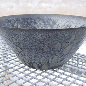 Unusual Enamelware Graniteware Bowl - Kitchen