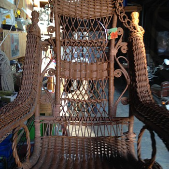 Victorian Wicker Platform Rocker - Furniture