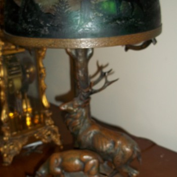 ANTIQUE DEER LAMP