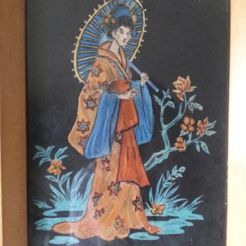 Chinese or Japanese felt paintings? does anyone know a bit more about them? - Asian