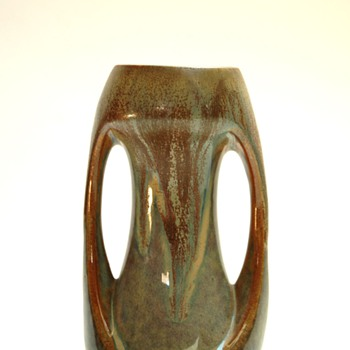 small  pottery vase by DENBAC - denert & balichon, france - Art Deco