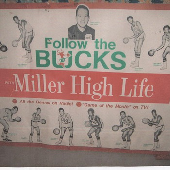 Lew Alcinder Milwaukee Bucks 1969? - Basketball