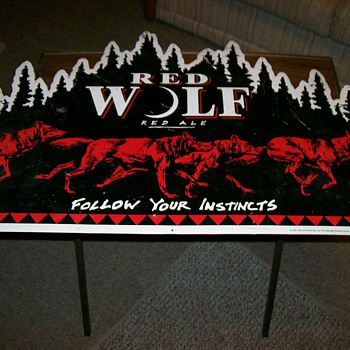 Red Wolf red ale sign - Signs