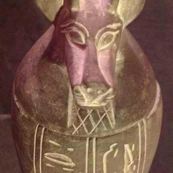 Egyptian Canopic jar.