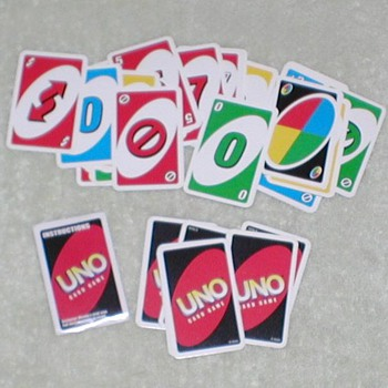 2007 UNO Card Game - Miniature - Cards