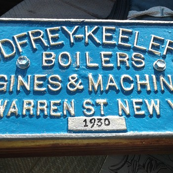 Godfrey Keeler Boiler Cast Iron Plaque