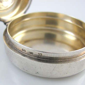 Silver Pill Box - maker? - Sterling Silver