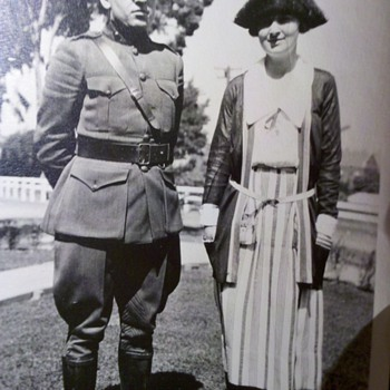 Vintage WWI US Marine Officer and his lady.... - Photographs