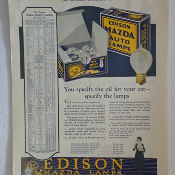 1922 Edison Mazda Lamps Ad  - Advertising