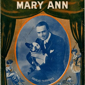 """1915, SHEET MUSIC,"""" COME OUT OF THE KITCHEN MARY ANN"""", DOUGLAS FAIRBANKS"""