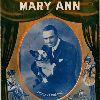 "1915, SHEET MUSIC,"" COME OUT OF THE KITCHEN MARY ANN"", DOUGLAS FAIRBANKS - Music Memorabilia"