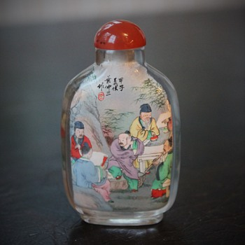 Rock Crystal Ye Zhongsan Snuff Bottle