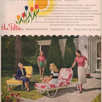 1950 Vincent-McCall Chaise Lounge Advertisement - Advertising