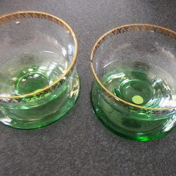 from Mum's China cabinet German glassware? dessert dishes over 60 years old