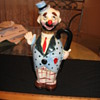very old clown liquor bottle