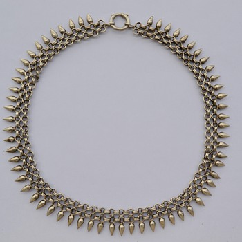 Victorian 800 Silver Necklace - Victorian Era