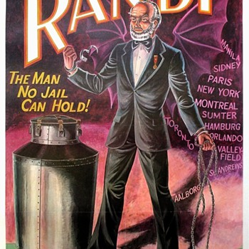 """The Amazing Randi"" Original Offset Lithograph Poster"