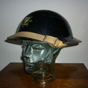 British WWII Bury Fire Brigade steel helmet. - Military and Wartime