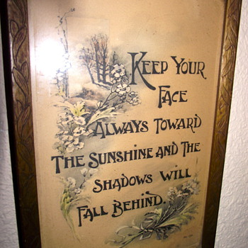 Framed Favorite Saying of My Grandmother's