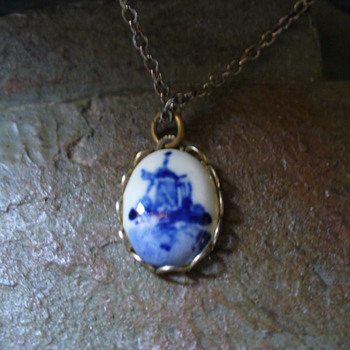 Blue Windmill Necklace