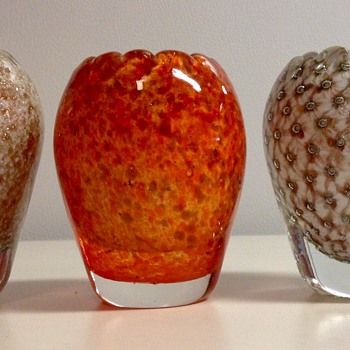 3 Murano Glass Vases