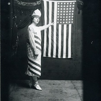 Early 1900s Patriotic Girl for the 4th - Photographs