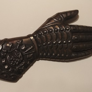 Cast Iron armored gloved hand