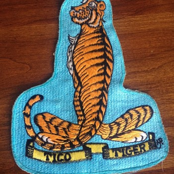 Vintage USS Ticonderoga Tico Tiger Japanese Made Patch