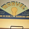 Marvel Light Bulb cardboard display sign