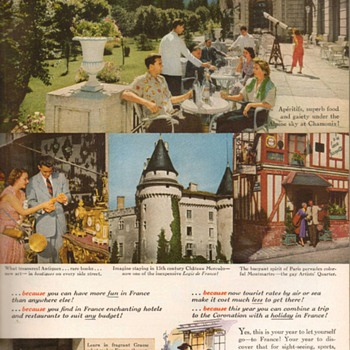 1953 - France Travel Advertisement - Advertising
