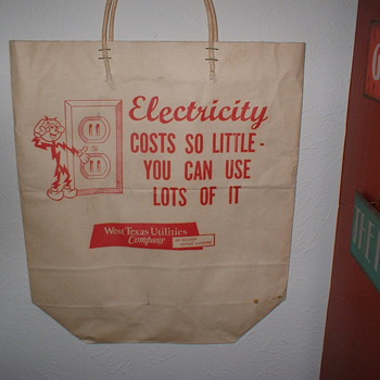 Texas Electric tote bag - Advertising