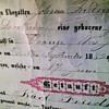 1800's  Antique Certificate