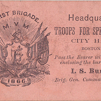 Boston Fire of 1872 soldiers pass