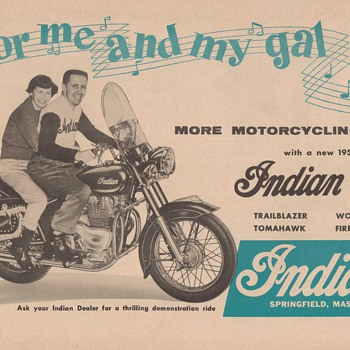 1956 Indian Motorcycles Advertisement