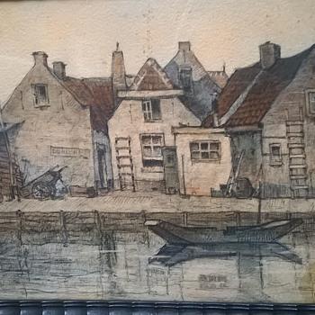 Original Sketch By Belgian Artist Louis Leclercq - Visual Art