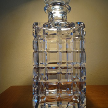 TIFFANY &amp;CO.   CRYSTAL  DECANTER  - Art Glass