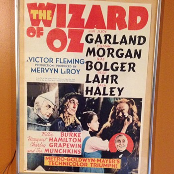 Wizard of oz poster! Unknow mfg. or year!