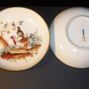 matching KPK Berlin painted plates