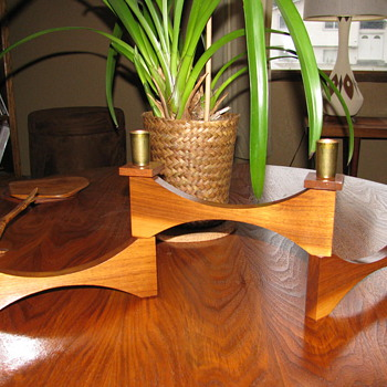 Danish Modern Teak Candelabra - Mid Century Modern