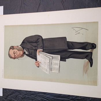 Original vanity fair lithograph