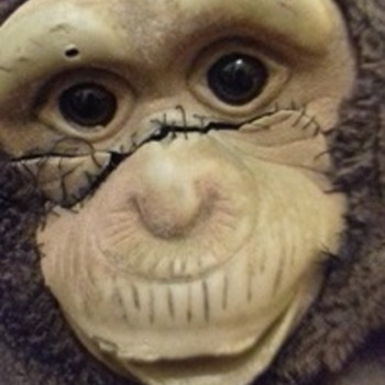 monkey puppet long arms rubber face