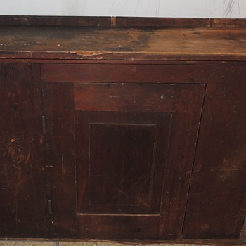Signed & Dated Early Pennsylvania Painted Cabinet - Furniture