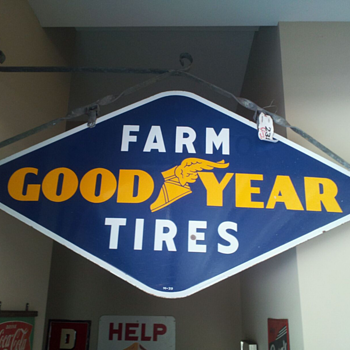 Goodyear Farm tire sign - Signs