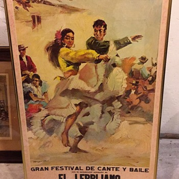 VINTAGE POSTER PACO DE LUCIA, PATRICIA HILL UNKNOW AGE - Posters and Prints