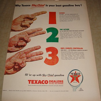 Texaco Sky Chief &quot;1, 2, 3&quot; Magazine Ad - Advertising