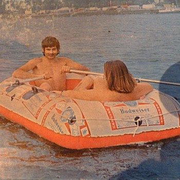 Budweiser Raft/Boat -  1970s vintage - Breweriana