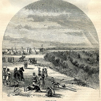 Fort Ellice, Hudson's Bay Post, 1860 - Paper