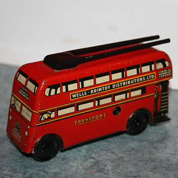 Wells Brimtoy london tin bus - Toys